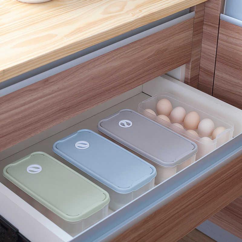 ห้องครัวไข่ Box10 Grid กล่องไข่ตู้เย็นกล่องเก็บอาหารการเก็บรักษากล่องเก็บชั้นวางไข่
