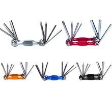 Инструмент для ремонта велосипедов отвертка для снятия крепежа для езды на горном велосипеде, 7-в-1 многофункциональный Голубой Серебряный красные, черные таможенный приходной ордер 8,5 см* 3,4 см