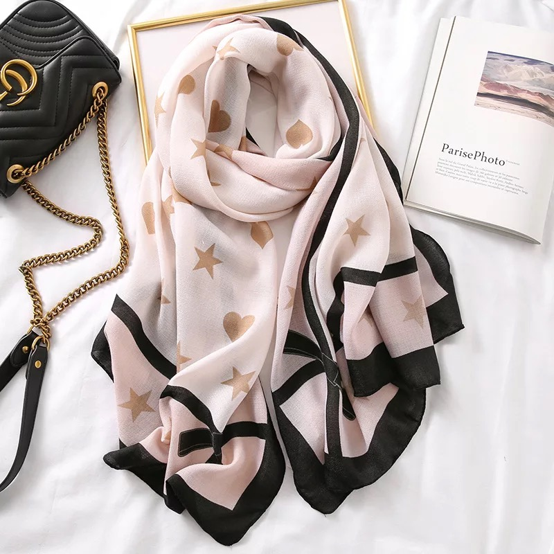 Image 5 - Luxury brand scarf leopard women Soft Pashminas shawl cotton silk  scarves Sjaal muslim hijab,animal print leopardo stole bandanaWomens  Scarves