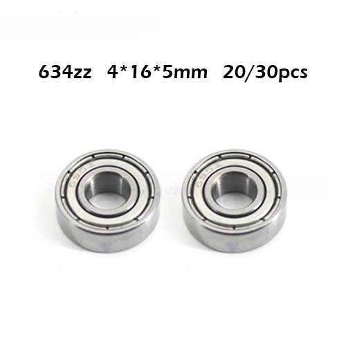 ZHENGGUIFANG Professional 10Pcs 634ZZ Deep Groove Ball Bearing 4165 mm ABEC-1 Grade R1640HH 634Z Miniature Ball Bearings 634 ZZ