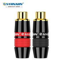 цена на High Quality 24K Gold RCA Jack Audio Video Connector Adapter For HIFI Audio DIY Cable black&red 1/pair speaker plug RCA Plug