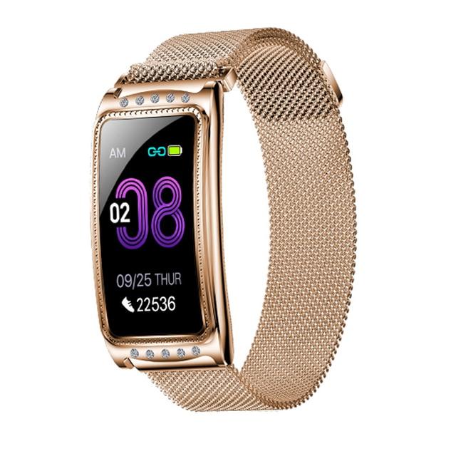 Femmes montre intelligente fréquence cardiaque femme physiologique période rappel Fitness Bracelet cadeau santé bracelet fitness pression pulsée
