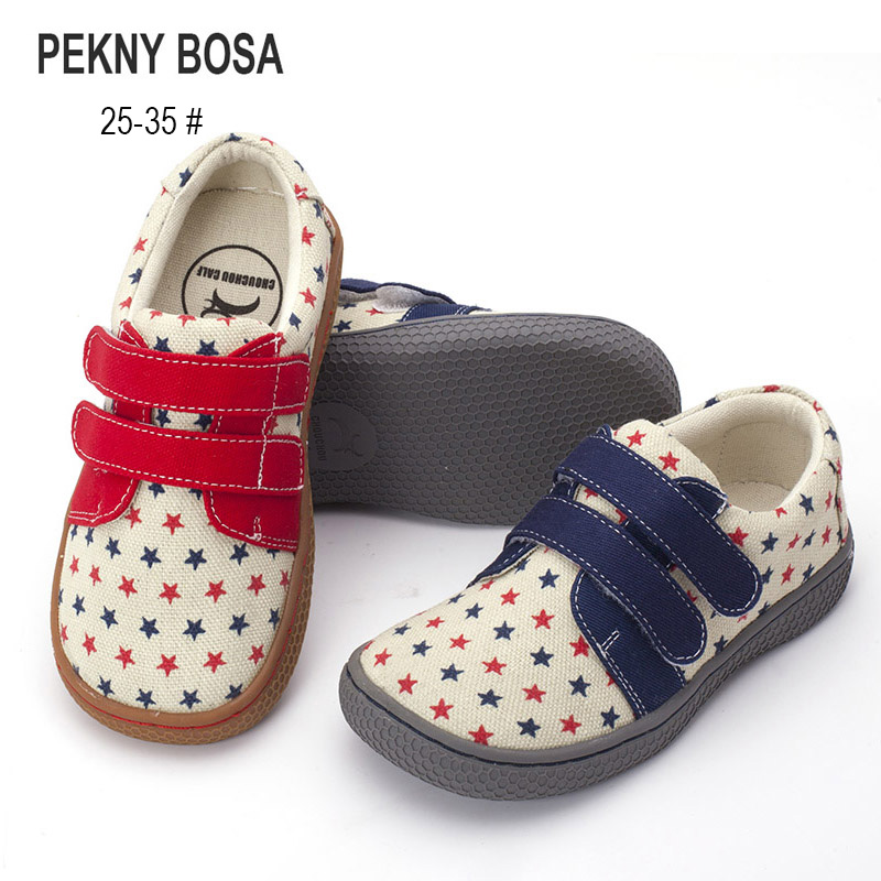 Pekny Bosa Brand Canvas Children Barefoot Shoes Fabric Stitching Kids Shoes For Boys Girls School Shoes Enough Top Toe For Kids