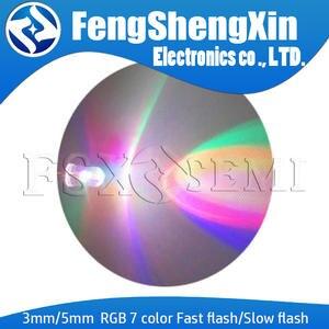 LED F5 5MM RGB 100PCS 3MM 7-Color Light-Emitting-Diode Flash Flash
