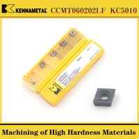 10PCS kennametal CCMT060202LF CCMT060204LF KC5010 High Hardness Stainless Steel Turning Blade