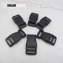 10Pcs/Packet Black Plastic Safety Quick Release Buckles 3/8 in (15mm) Wide DIY Personal sewing dog collar garment accessory