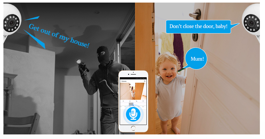 H5a0a3c68cc914e3b85e6f0cf0aa6048aX KERUI 720P 1080P HD Wifi Wireless Home Security IP Camera Security Network CCTV Surveillance Camera IR Night Vision Baby Monitor