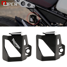 Rear Brake Fluid Reservoir Guard Cover Protector For TRIUMPH TIGER 800 XR TIGER 800 XCA TIGER 800 XRX TIGER 800 XRT 2017-2018