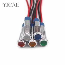 1PC metalowy wskaźnik LED światła 6mm wodoodporna lampka sygnalizacyjna światła ostrzegawcze 6V 12V 24V V czerwony żółty na desce rozdzielczej światło do łodzi tanie i dobre opinie YJCAL 12 v Kontrolki YJ-6MMZSD 3V 5V 6V 12V 24V 36V 48V 110 V 220V Red Green Yellow Blue White