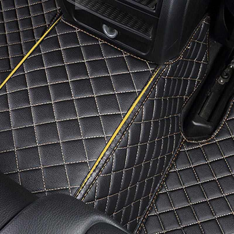 Car Mats Black with Yellow trim mats for HYUNDAI AMICA COUPE GETZ I10 120 TRAJET