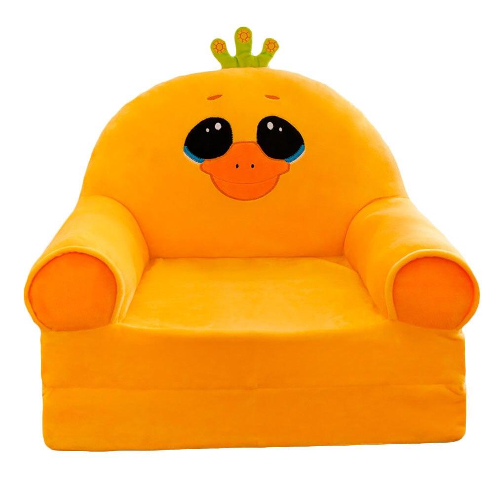 Johnear Kids Sofa Backrest Chair Cute Cartoon Animal Bean Bag Armchair Support Seat Children's Sofa For Playroom Bedroom