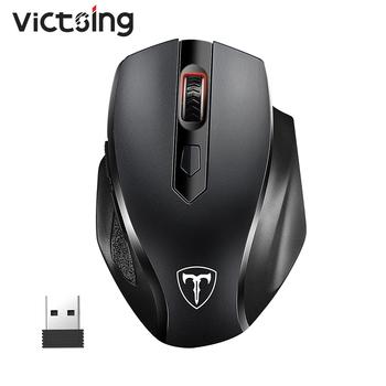 VicTsing PC073 bezprzewodowa mysz 2 4ghz pełny wymiar myszy ergonomiczne 6 przycisków 2400 DPI z odbiornikiem USB na PC Laptop Mouse tanie i dobre opinie CN (pochodzenie) 2 4 ghz wireless 128g Optoelektroniczne Dla palców Baterii VicTsing GEPC073AB Wireless Mouse Obie ręce