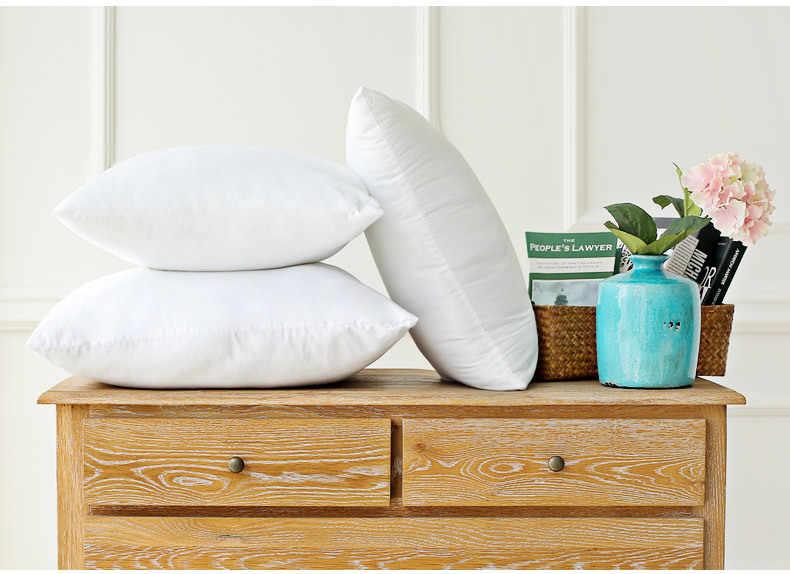 古典的な 9 サイズ固体純粋なクッションコアおかしいソフトヘッド枕インナー PP 綿フィラーカスタマイズヘルスケアクッション充填