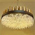 Современная люстра Золотая роскошная хрустальная люстра для лобби гостиной виллы осветительные приборы домашний декор