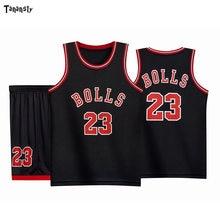 Баскетбольные майки BOLLS #23, детские спортивные костюмы высокого качества, детские спортивные майки и шорты, быстросохнущие, 2020