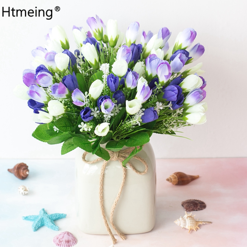 Искусственные цветы Crocus, букет из роз, шелковые цветы для дома, свадебные украшения для дома