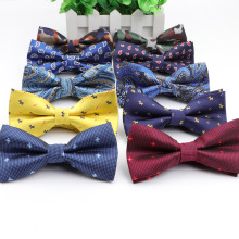 Bowties Colorful Groom Dog-Cravat Wedding Butterfly Fashion Male Grid Star Men Marriage