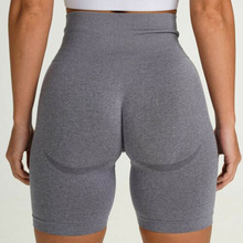 Seamless Sport Shorts For Women High Waist  Fitness Yoga Shorts Squat Proof Tummy Control Elastic Running Workout Shorts NCLAGEN