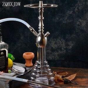 Высококачественный акриловый кальян ZQBXJDWLarge со светодиодными лампами, керамическая чаша для кальяна, KTV Chicha Narghile, аксессуары, подарок
