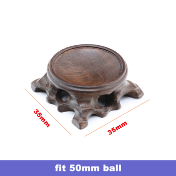 Wood Display Stand for Crystal Glass Lens Ball Large Divination Photography Lensball Base 40 60 80 100mm Big Magic Sphere Holder 12