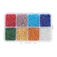 12500 pces 2mm charme tcheco contas de semente de vidro diy pulseira colar para fazer jóias acessórios