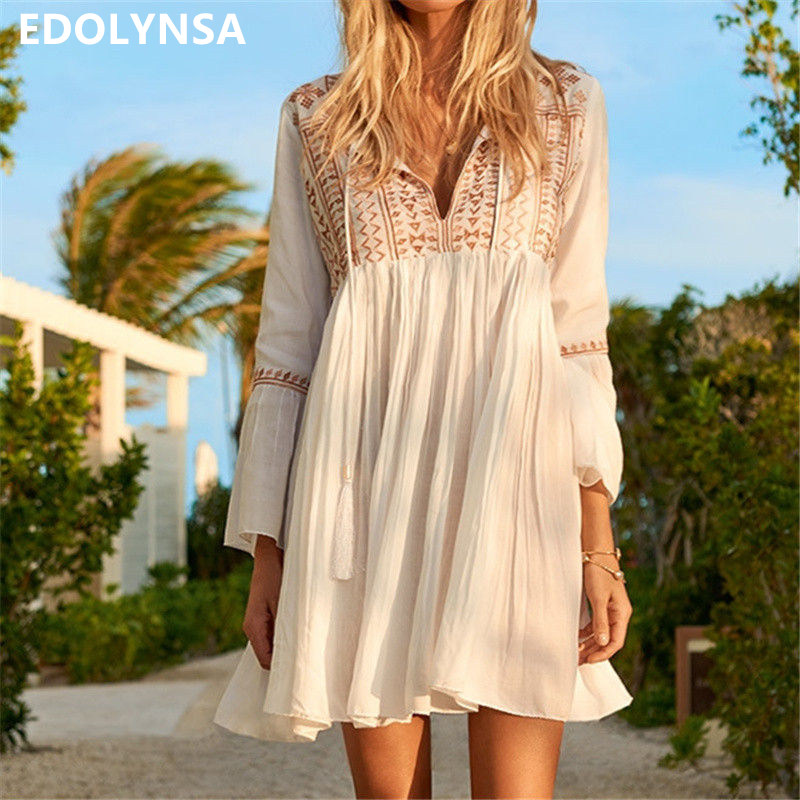 Boho Ruffle Tassel Dress