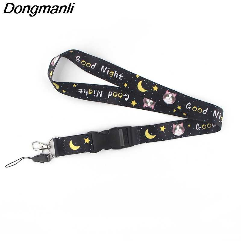 K726 Buona Notte Gatto Cinghia del Collo Della Cordicella per la chiave Cinghie Del Telefono USB della Carta di IDENTIFICAZIONE Badge holder Neck Strap Hang Rope lariat