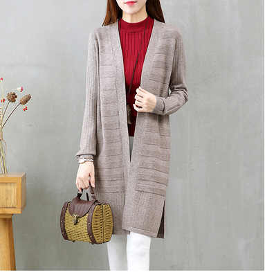 New 2019 Autumn Women Sweater Cardigan Female Cashmere Knitted Plus Size Poncho Coat Fashion Winter Long Sleeve Loose Sweater