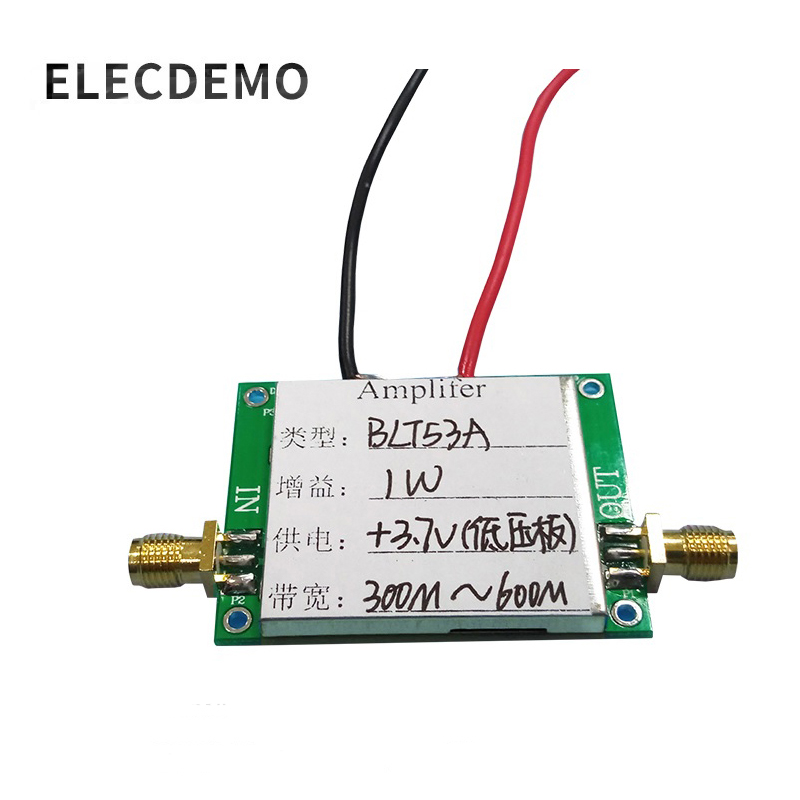 BLT53A Module 433M RF power amplifier Low voltage version 3.7v with si4463, SI4432 broadband high gain function demo board
