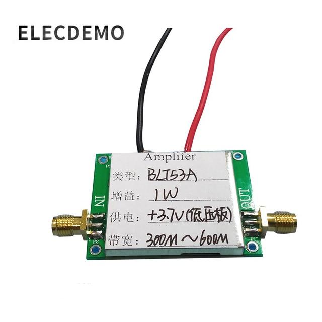 Blt53a 모듈 rf 전력 증폭기 433 m 저전압 버전 3.7v si4463, si4432 광대역 고 이득 기능 데모 보드