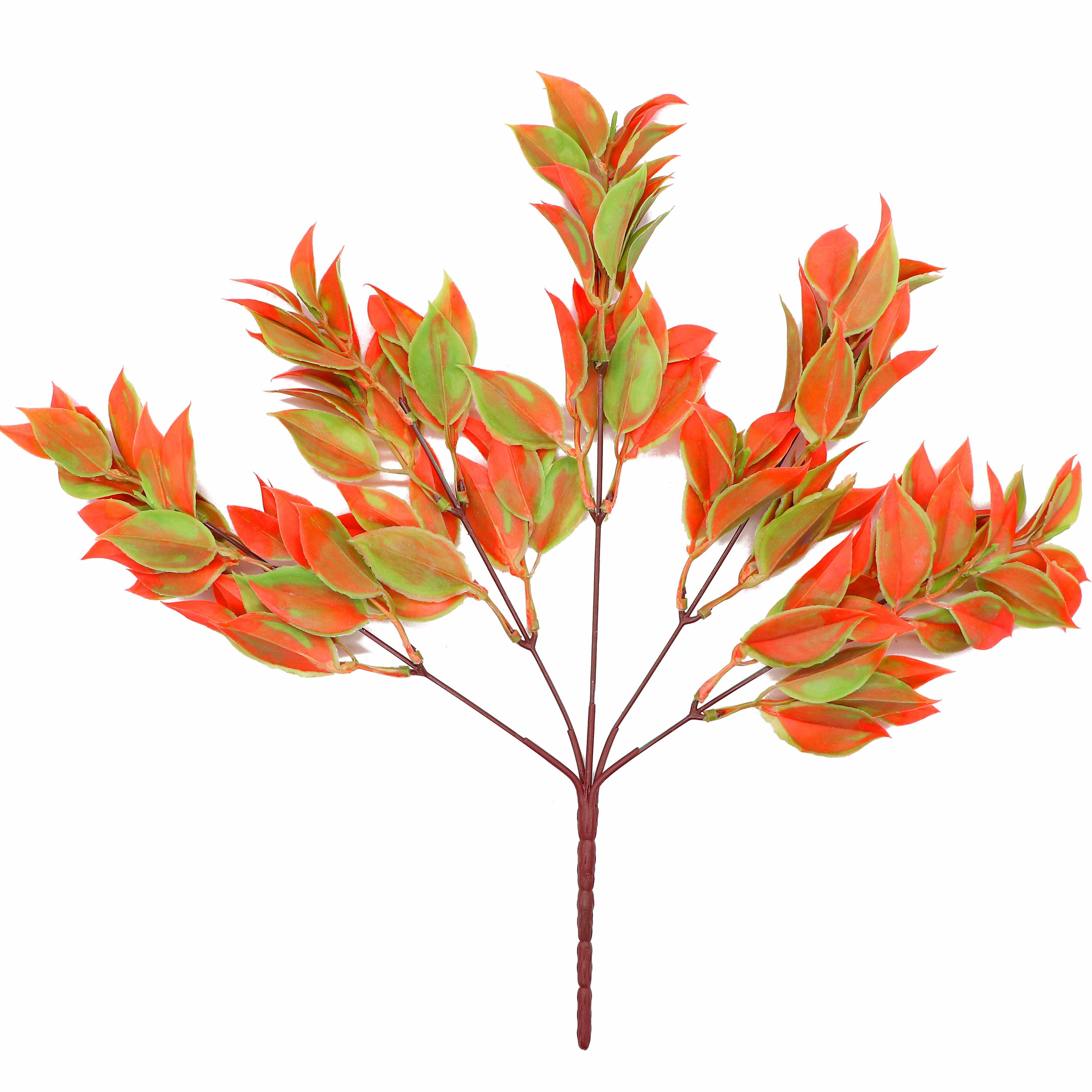 5 Branches Green Artificial Plants For Garden Bushes Fake Grass Eucalyptus Orange Leaves Faux Plant For Home Shop Decoration Artificial Dried Flowers Aliexpress