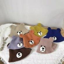 Детская трикотажная Шапка бини с ушками на осень/зиму