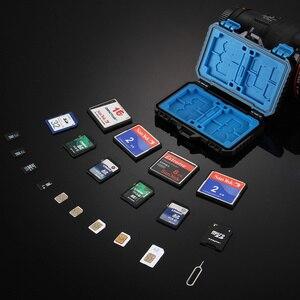 Image 2 - Черная 27 карт, водонепроницаемая коробка для хранения CF/TF/SD/SIM карты, чехол для хранения карт памяти 11,5*7*2,05 см