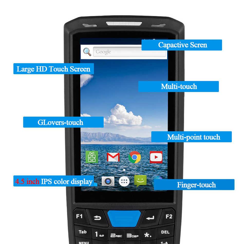 Android 8,1 Industrial robusto PDA Terminal de mano POS escáner de código de barras láser Compatible con WiFi inalámbrico 4G BT para almacén Express