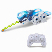 Kids Toy Robot RC Dinosaur Pet 2.4 G Intelligent For Children Birthday Gift Funny Boys Girls Toys Remote Control Reptile Animals(China)