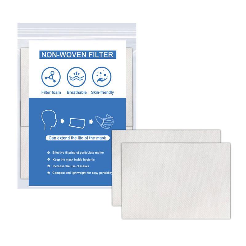 10/20/50 Pcs Non-woven Mask Filter Sheet Face Mouth Dusk Masks Gasket Dustproof Filter Cartridge