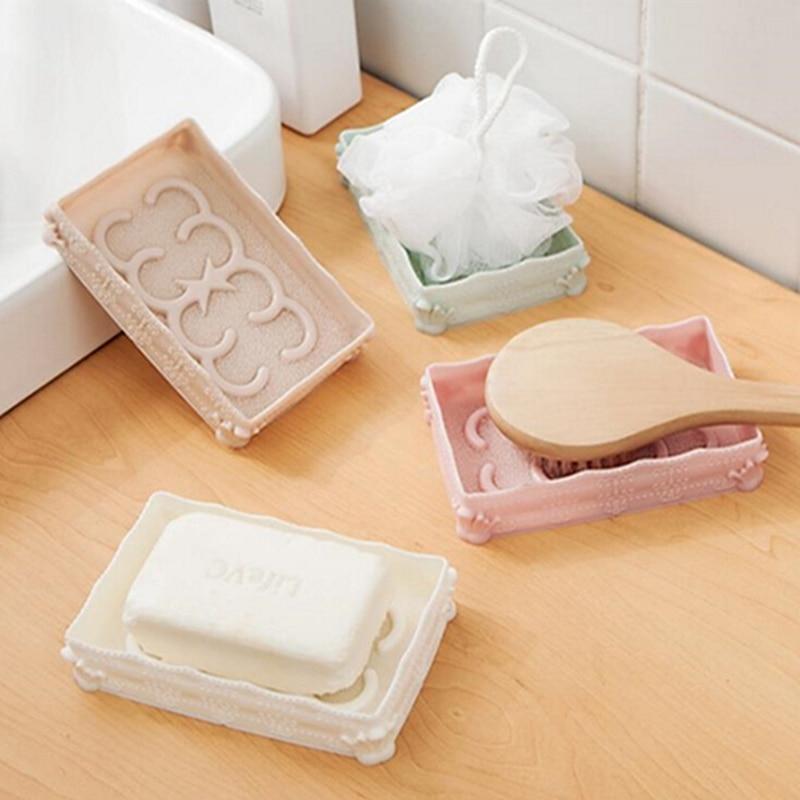 Wall Mounted Bathroom Shower Cartoon Soap Box Dish Storage Box Holder Case