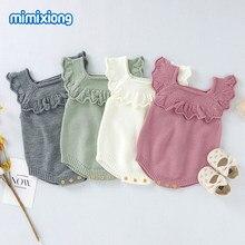 Bebê meninas bodysuits roupas bonito doce cor de malha recém-nascido infantil macacão corpo 0-18months criança crianças macacões outfits