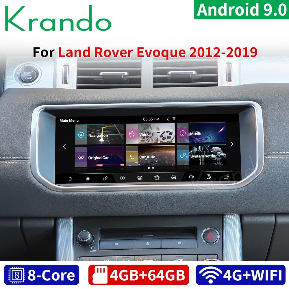 "Krando 10.25 ""android 9.0 4g 64g rádio do carro jogador de áudio para land rover range evoque 2012-2019 harman bosch anfitrião gps navi wifi"