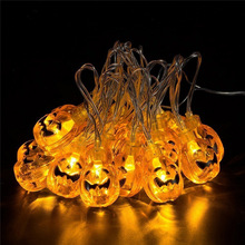 Halloween Pumpkin Strings LED Light Scary Horror Ghost Party Festival Props Accessories Child Decor