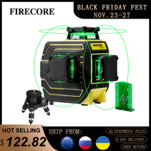 FIRECORE 12Lines 3D 360 Green Laser Level F94T-XG IP65 Auto Self-Leveling Cross Lines