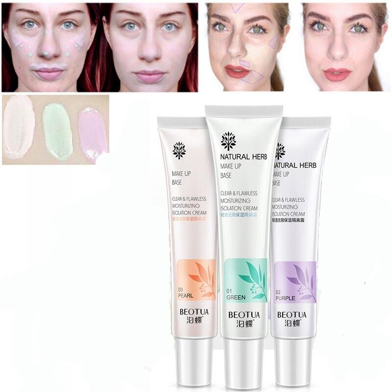 New Makeup Corrector Cream Waterproof Base Foundation Dark Skin Eye Circles Redness Purple Green Makeup Isolation Primer