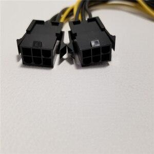Image 4 - Видеокарта двойной 6Pin гнездовой к 8Pin адаптер PCI E удлинитель питания 18AWG 20 см