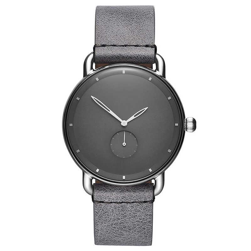 새로운 가죽 시계 최고 품질의 럭셔리 쿼츠 시계 Bussiness 가죽 손목 시계