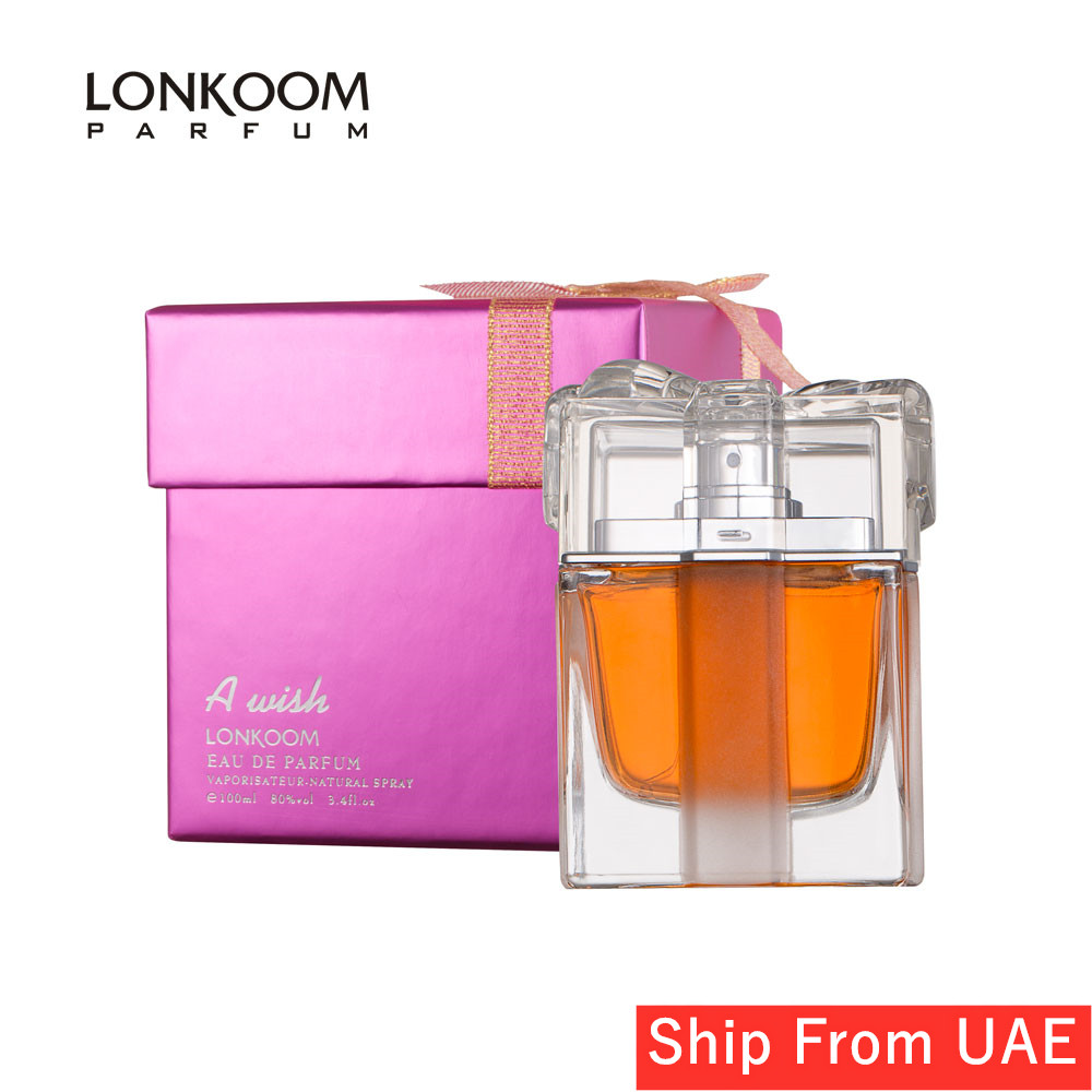 LONKOOM Perfume For Women Floral-fruity Fragrance Women 100ml A Wish Pink Long Lasting Scent Spray Fragrant Free Shipping