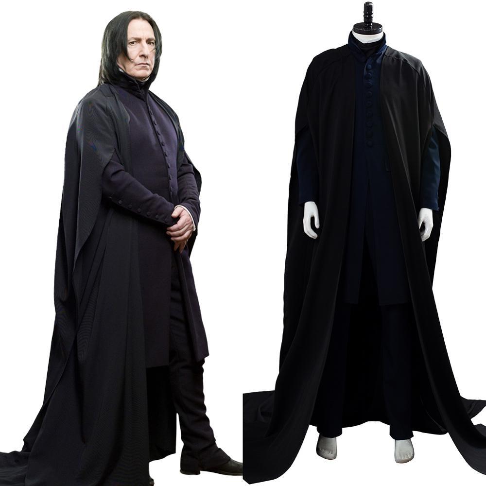 Severus Snape Косплей Deathly Hallows плащ накидка, нарядный Хэллоуин костюмы для взрослых мужчин
