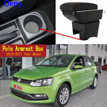 For Volkswagen Polo Mk5 6R Vento 2010-2018 Dual Layer Armrest Arm Rest Center Centre Console Storage Box Tray 2012 2013 2014