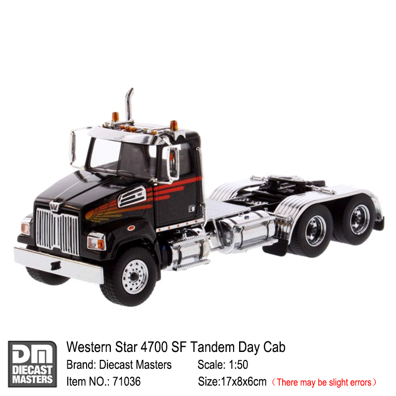 International 1:50 scale HX620 Black Tridem Tractor By Diecast Masters 71009