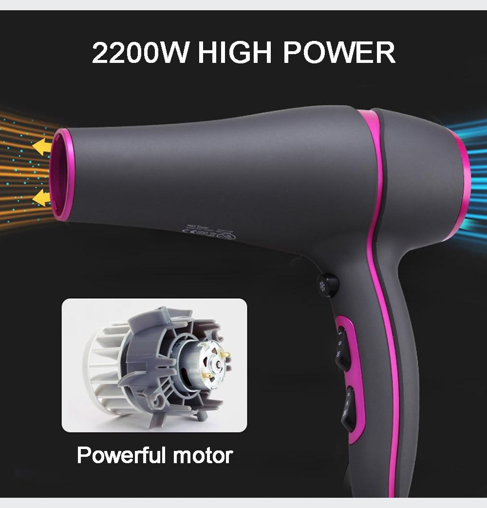 beleza de 2200w secador de cabelo com