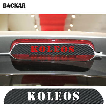 Car-styling Carbon Fiber Stickers For Renault KOLEOS 2009 2010 2011 2012 2013 2014 2015 2016 Auto High Brake Light Accessories image